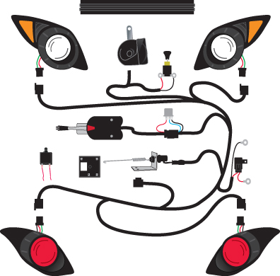 yamaha golf cart turn signal wiring diagram deluxe golf cart light kits 2 - golf cart trader #13