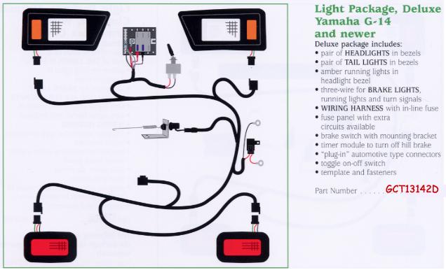golf cart wiring diagram for brake light deluxe golf cart light kits 2 golf cart trader  deluxe golf cart light kits 2 golf