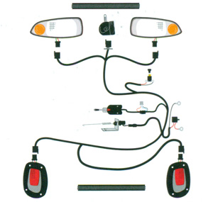 Deluxe kits ez headlights tail lights brake lights wiring harness cheapraybanclubmaster